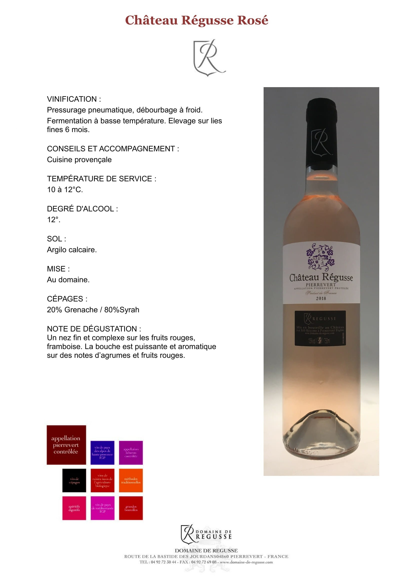 Chateau regusse rose ok